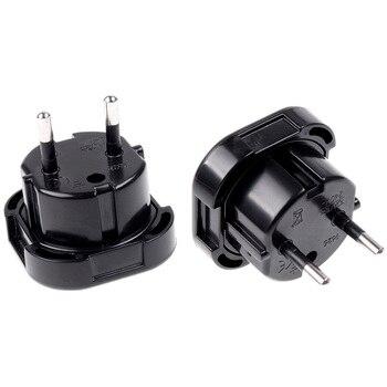 1PC 2 Pin wtyczka ścienna gniazdo elektryczne UK do ue europa europejski Adapter ładowarka podróżna konwerter wtyczki 10A/16A 240V