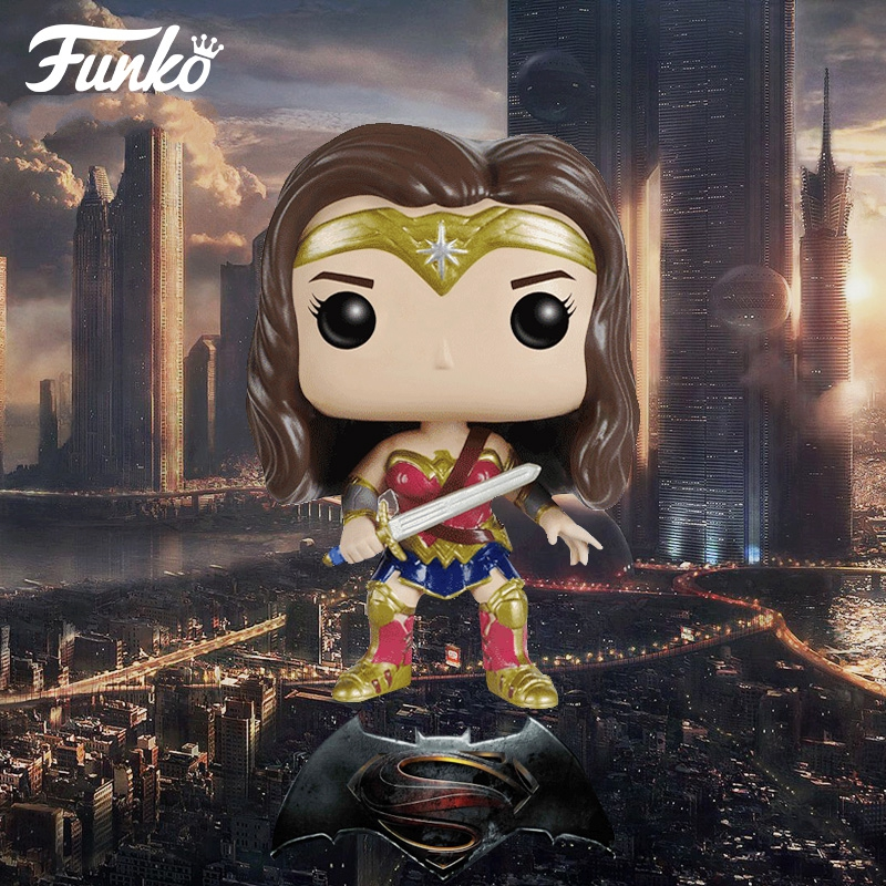 <font><b>Funko</b></font> <font><b>POP</b></font> Wonder Woman Viny <font><b>Action</b></font> <font><b>Figure</b></font> Batman VS Superman Dawn of Justice <font><b>DC</b></font> League Super <font><b>Hero</b></font> Toy Brinquedos