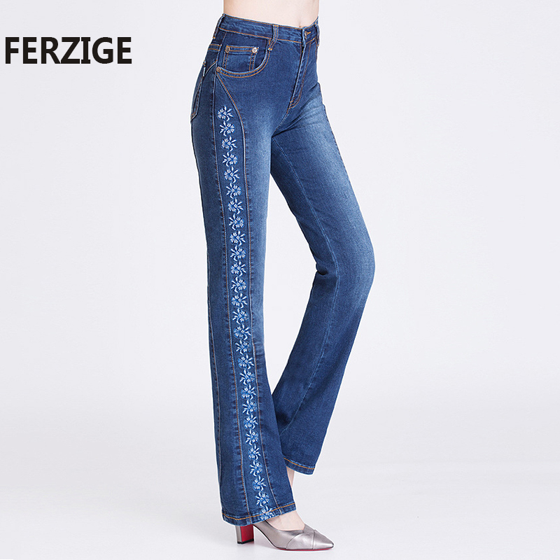 FERZIGE Women Jeans Embroidered Fashion s