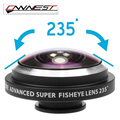 OWNEST Orbmart Universal Clip 235 Degree Super Fish Eye Camera Fisheye For Apple iPhone 6 Plus 5S 5C 5 4S Samsung Mobile Phone L