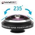 Orbmart OWNEST Universal Clipe 235 Grau Super Câmera Olho de Peixe Olho de peixe Para apple iphone 6 plus 5s 5c 5 4s samsung telefone móvel l