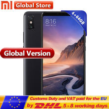Global Version Xiaomi Mi Max 3 64GB 4GB Mobile Phone Snapdragon 636 Octa Core 6.9'' Full Screen Display B4 B20 5500mAh(China)