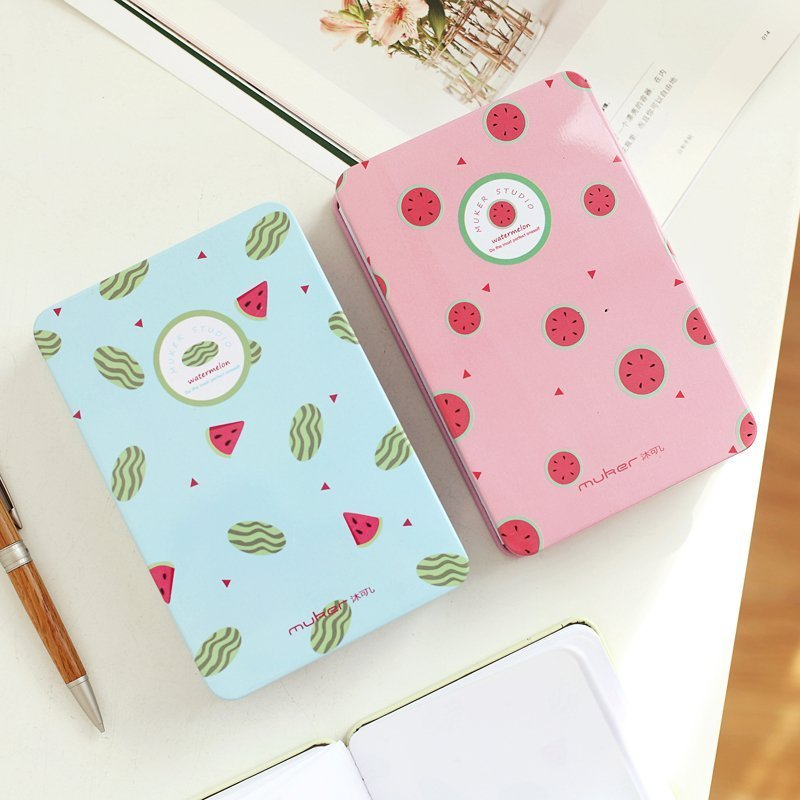 South Korea stationery lovely fruit notebook creative blank sheet color page diary watermelon note book creative trend dolphin notebook a5 color inside page note book sketch book graffiti diy diary japanese stationery