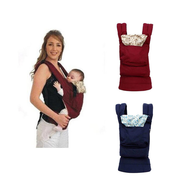 Organic Cotton Baby Carrier Two Color Multifunction Breathable