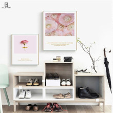Fresh Ins Style Of Flowers Pink Petal Yellow Pistil Like Revolving Top Art Decorative Painting Canvas Posters For Home Decor top posters холст top posters 50х50х2см g 1033h