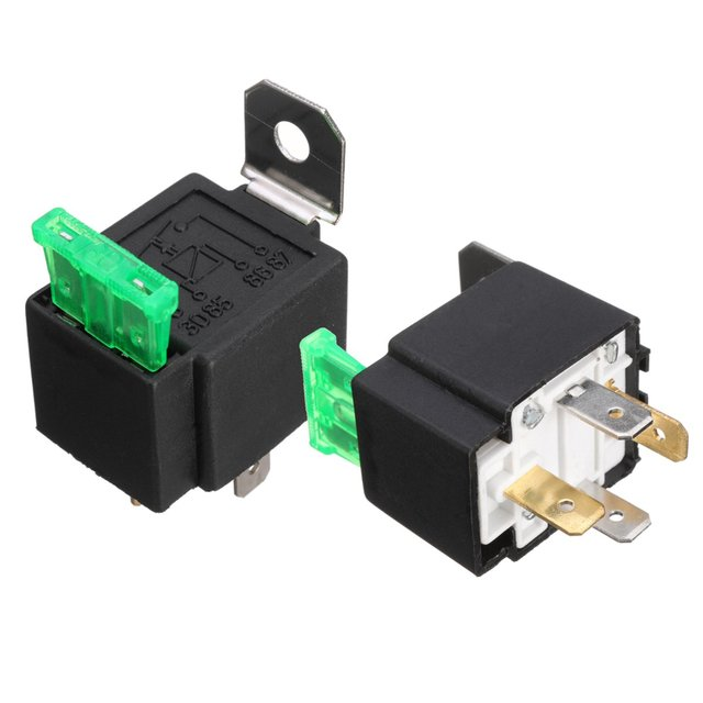 2x dc 12v on off 4 pin relay 30 amp fuse base box holder bracket fog rh aliexpress com