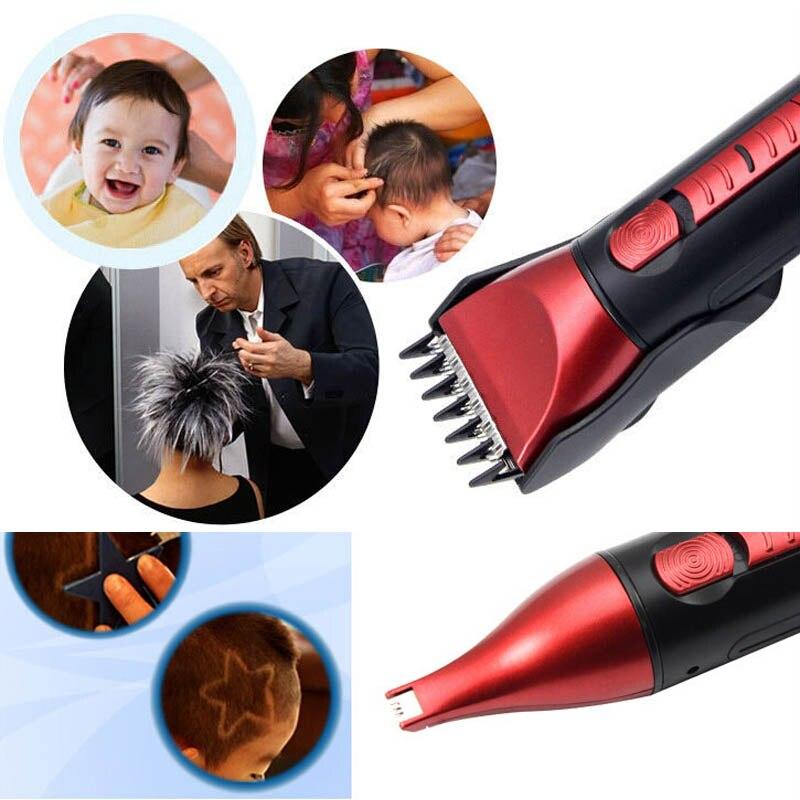 5в1 водонепроницаемый перезаряжаемый Набор для стрижки волос и бороды, инструменты для стрижки, ножницы, электробритва, бритва для чистки носа и ушей для мужчин
