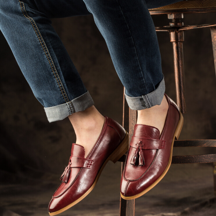 Men's Shoes 2018 New Fashion Style Designer Formal Mens Dress Shoes Genuine Leather Luxury Wedding Shoes Men Flats Office Shoes Lc29959 Attractive Appearance