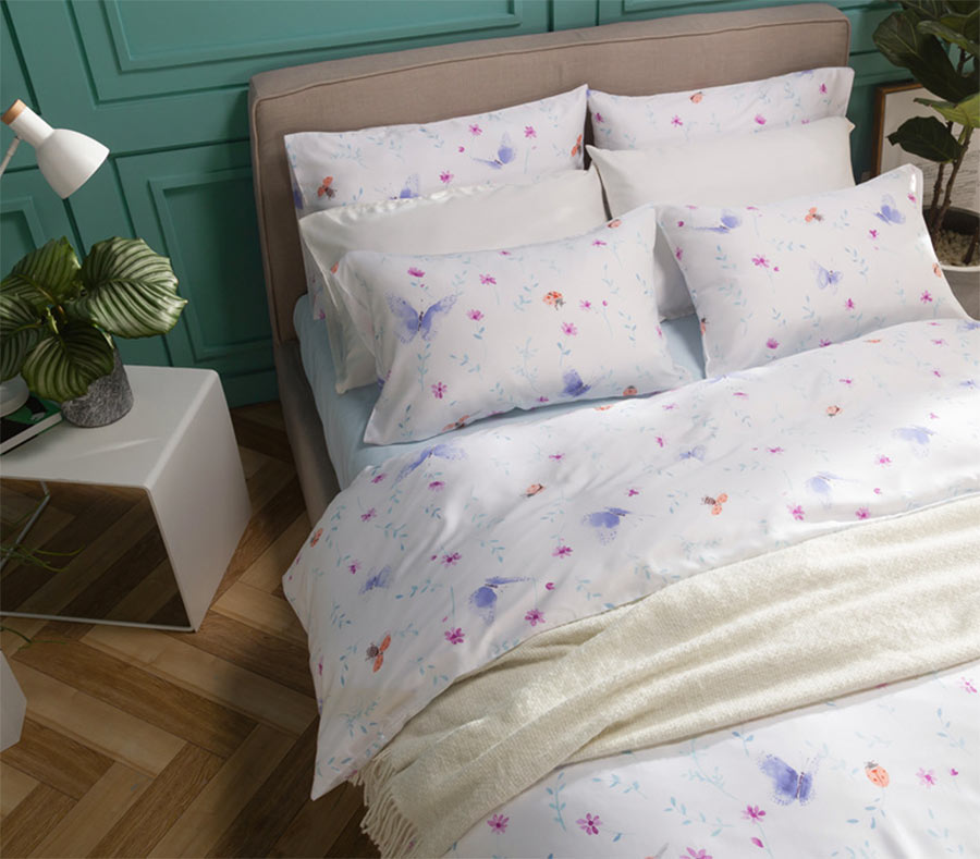 butterfly flower bedding set adult teen girlfull queen king vintage floral double bedclothes bed