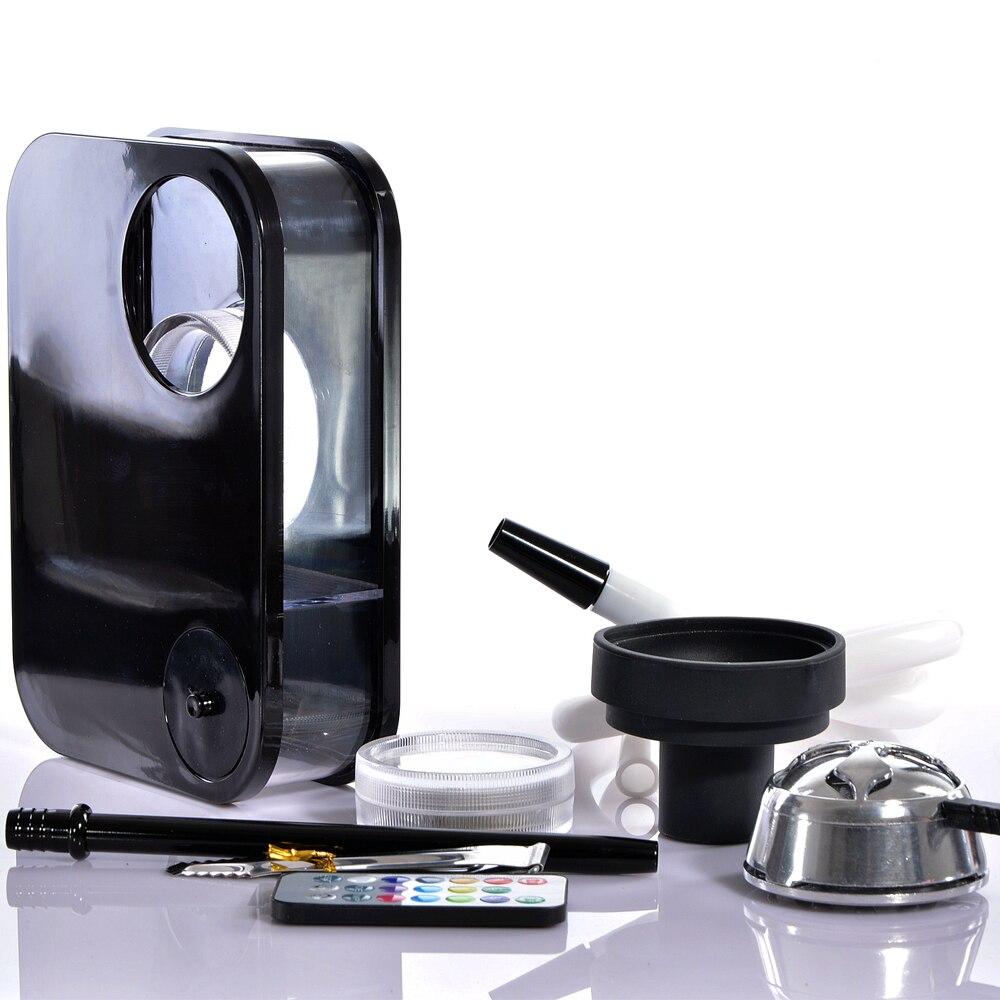 Schwarze Acryl Shisha Shisha mit LED-Licht Chicha Schüssel Schlauch - Haushaltswaren - Foto 4