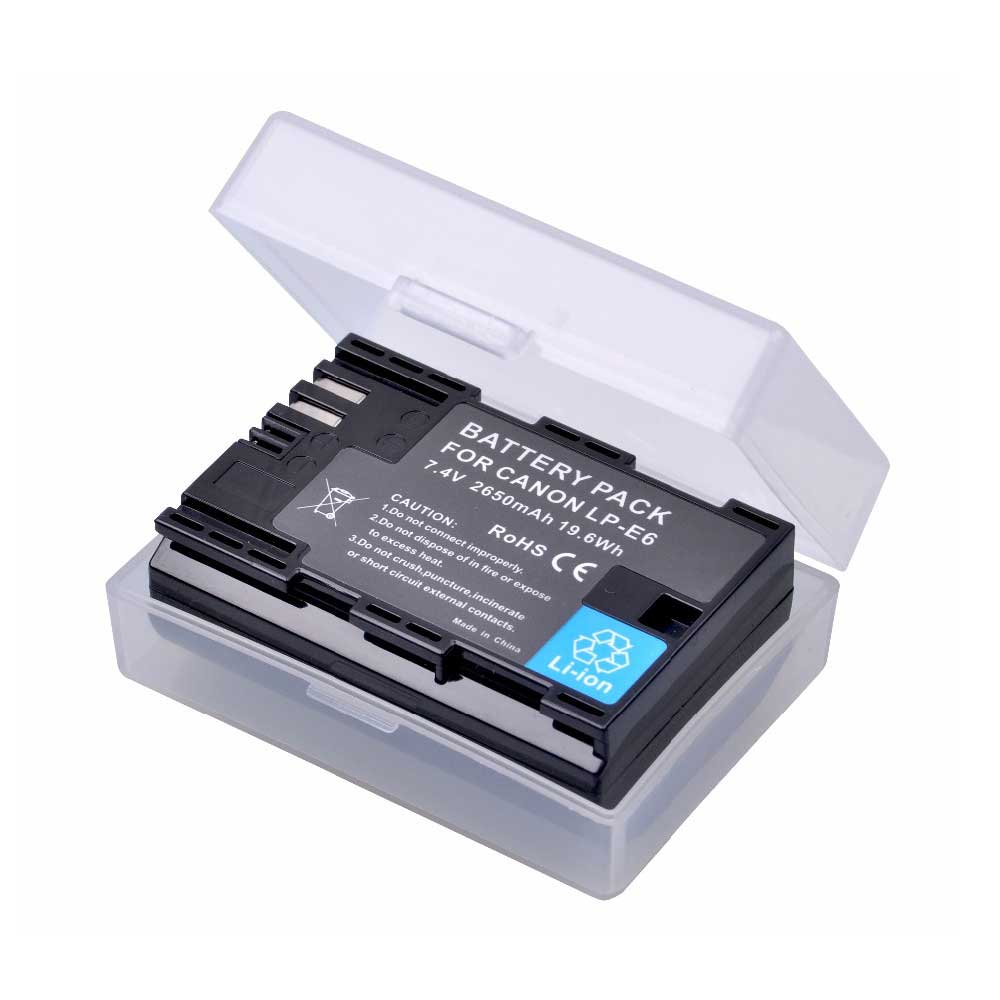 2650mAh LP-E6 LPE6 LP E6 Lp-e6n Battery For Canon EOS 5D Mark IV 5D2 5DS R Mark II 2  III 3 6D 60D 60Da 7D 7D2 7DII 70D Battery