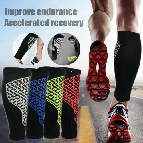 1 Piece Single Outdoor Sport Leg Calf Support Stretch Sleeve Graduate Compression Socks Leg Compression
