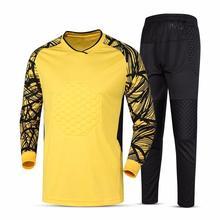 Suit Soccer Men Jerseys-Set Jacket Sponge-Protector Leg-Pants Football Goalie Skinny