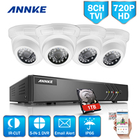 ANNKE 1080N 8CH TVI H 264 DVR P2P With 4pcs 1 0MP 720P Outdoor Security CCTV