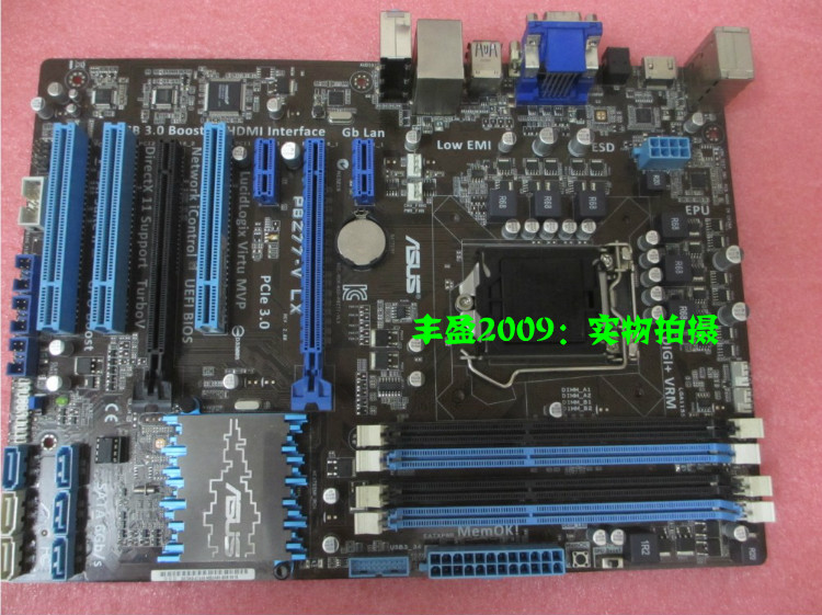 ASUS P8Z77-V LX  original motherboard DDR3 LGA 1155 boards for I3 I5 I7 32GB Z77 Desktop motherborad Free shipping asus p8z77 m desktop motherboard z77 socket lga 1155 i3 i5 i7 ddr3 32g uatx uefi bios original used mainboard on sale