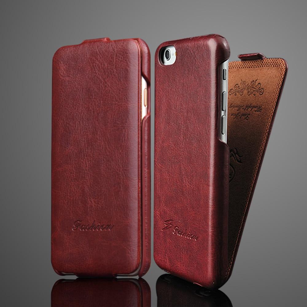 Luxo Retro R64 Vertical flip Caso De Couro Para o iphone 6 6S 7 8 X Xs XR XS Completo Max cobrir