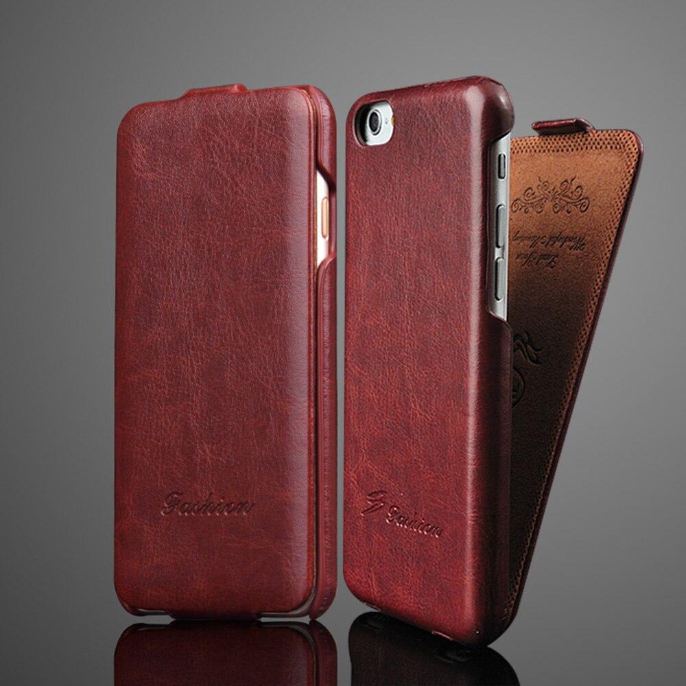 Luxo retro r64 vertical flip caso de couro para o iphone 6 s 7 8 x xs xr xs max capa completa