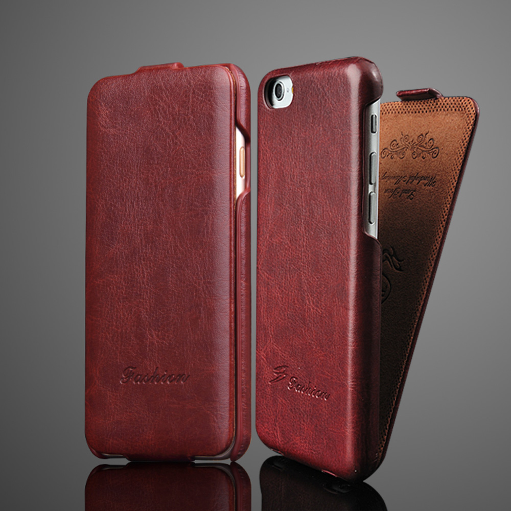 Luxury Retro R64 Vertical flip <font><b>Leather</b></font> <font><b>Case</b></font> For <font><b>iPhone</b></font> 6 <font><b>6S</b></font> 7 8 X Xs XR XS Max Full Cover image