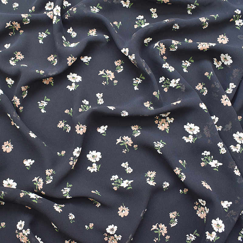 couture fashion chiffon fabric,faux silk satin,Hydrangea floral,green leaves,Smooth,Drape,Sewing,Craft by the meter ST-15