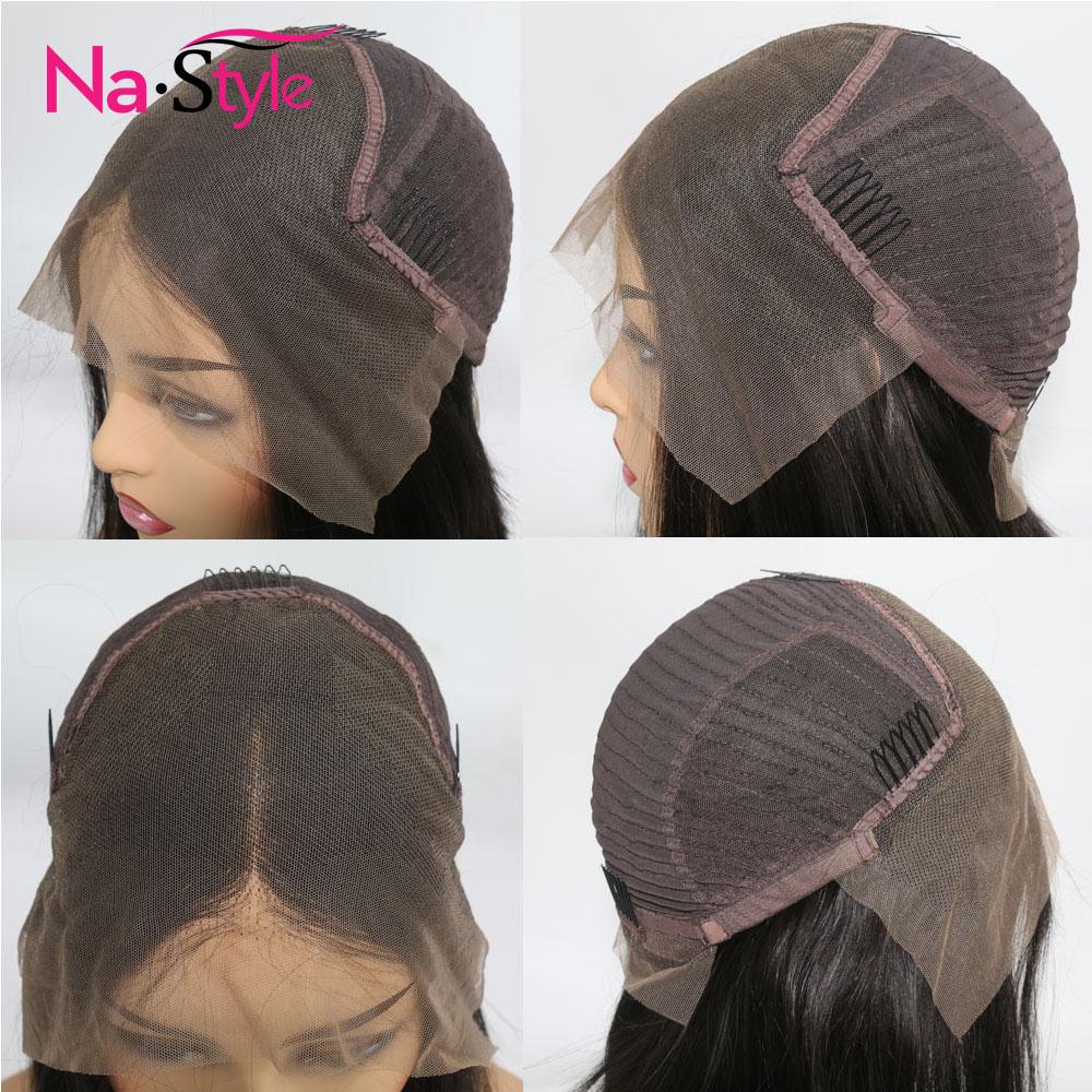 Afro crépus bouclés perruque avec frange partie profonde 13x6 dentelle avant perruques de cheveux humains pour les femmes noires courtes perruques de cheveux humains Bob mongol - 6