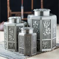 Chinese style metal alloy tea storage box tin tea canister tea box metal for tea storage CYG02