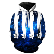 Christmas Gift Hoodies Men/women 3d Sweatshirts Print Christmas Long Cats Thin Space Galaxy Hooded Hoodies Tops R3469