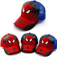 New Fashion Cartoon Child Baseball Cap Spiderman Super Hero Summer Kids Sun