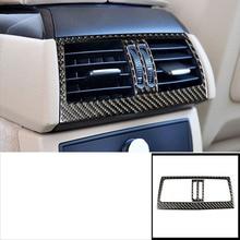 цена на lsrtw2017 carbon fiber car armrest rear vent trims for bmw x5 x6 2006 2007 2008 2009 2010 2011 2012 2013 E70 E71