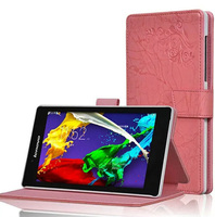 New Arrival Prints Pattern Folio Stand Cover Protective Print Flower Leather Case For Lenovo Tab 2