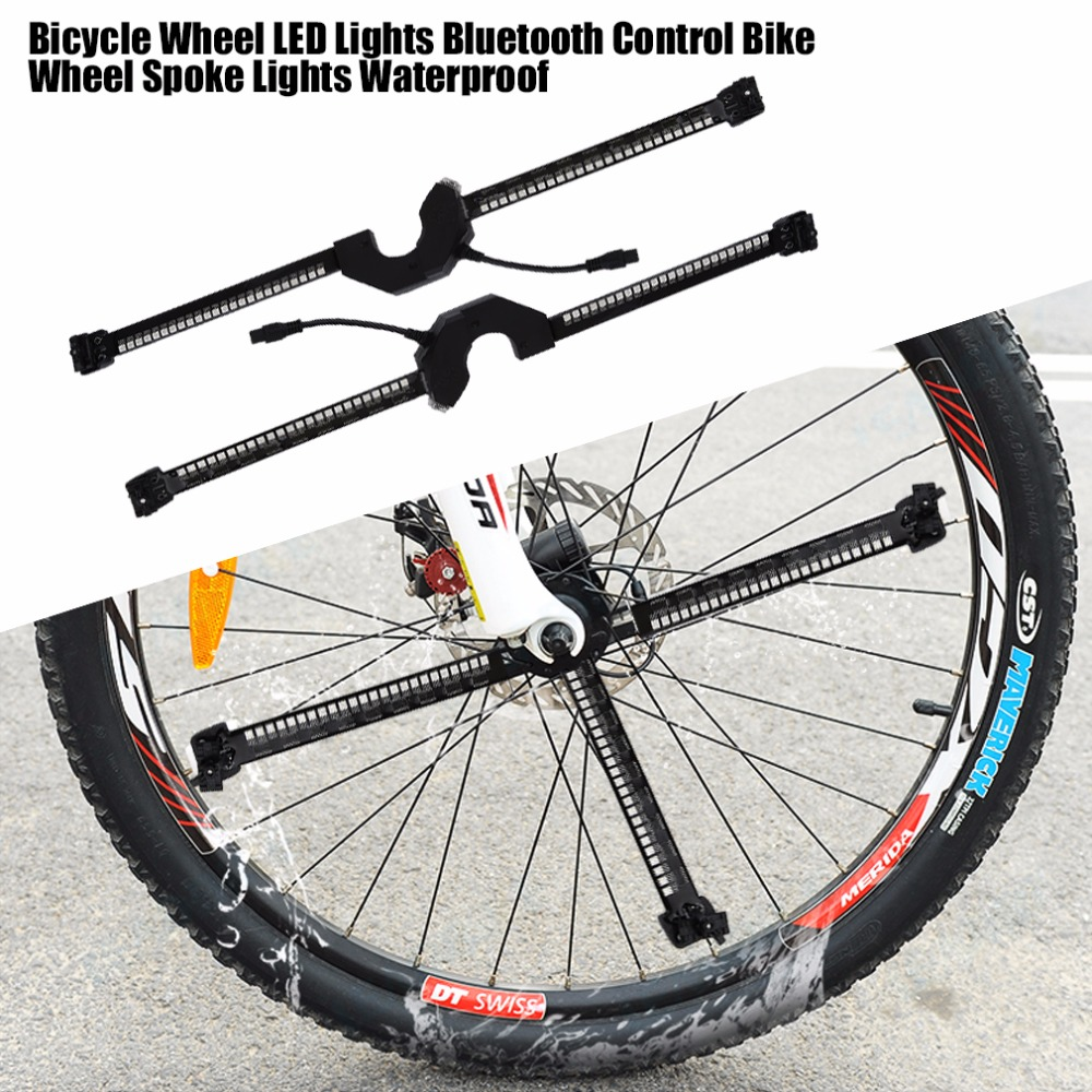 Bicycle Wheel LED Lights Smart Bluetooth Intelligent ...