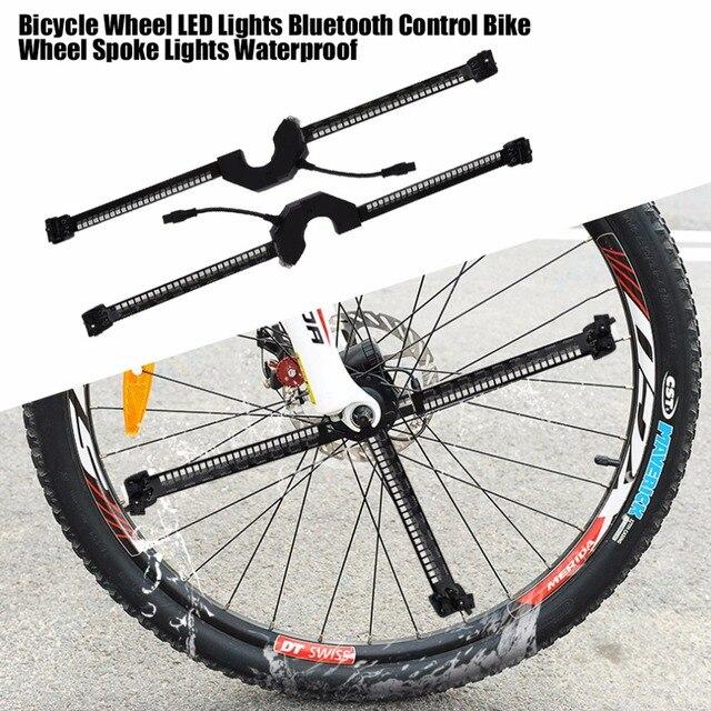 fietswiel led verlichting smart bluetooth intelligente controle wiel licht fiets wiel spoke lights waterdicht voor telefoon