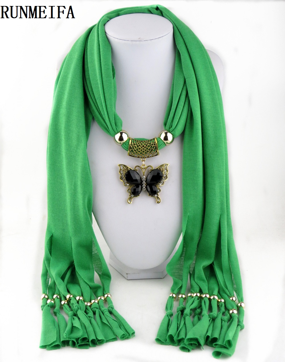 New arrival charms winter scarf necklaces tassel bead butterfly new arrival charms winter scarf necklaces tassel bead butterfly pendant scarf necklaces women scarf necklaces jewelry wholesale aloadofball Images
