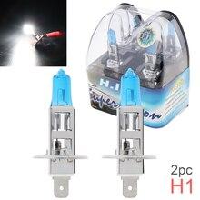 2 шт. 12V H1 55W 6000K белый светильник супер яркие автомобильные ксеноновые галогенные лампы авто спереди головной светильник противотуманные лампы