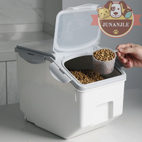 Pet Cat Dog Feeder Anti oxidation Dry Storage Large Capacity Storage Fresh Box Food Container Dog Bucket and Measuring Cup