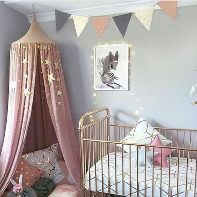 Baby Playpens Decoration Latest Styles Baby Bed Star Decorations Crib Crown Dome Valance Accessories Photography Props A059-30