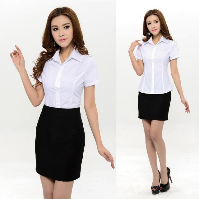 Aliexpress.com : Buy New 2015 Summer Formal Shirt Women Short ...