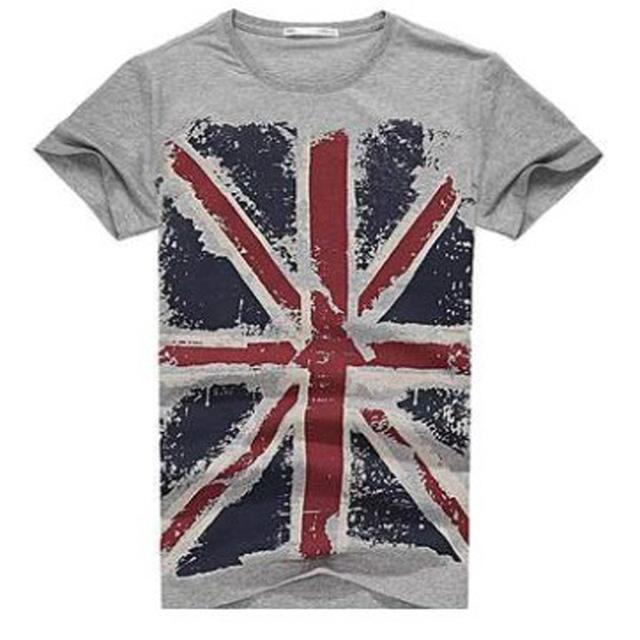 Men's England Flag Printed T-Shirt