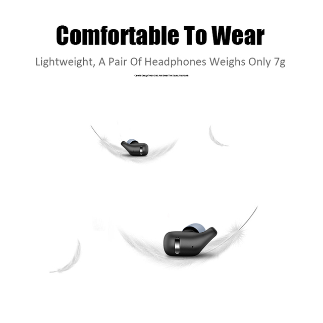 M J TWS Bluetooth 5 0 Earphones in Ear Wireless Earbuds Stereo Bass Sound Noise Cancellation