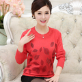 Middle Age Women Clothing Knitting Sweater cheap Autumn Mother Pollovers Ladies Casual wool Elegant Tops 5 colors