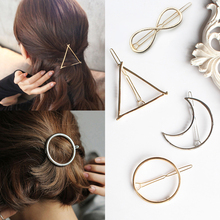 1 Pcs Girlstriangle Moon Hairpins Hair Clips Hairgrip Accessories Round Barrettes Jewelry Women Pins Head