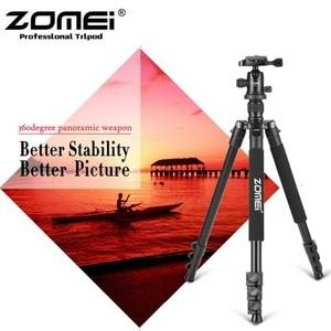 Image 3 - Zomei Q555 profesjonalna aluminiowa elastyczna kamera stojak trójnóg do lustrzanki cyfrowe przenośne statywy 360 stopni obracanie