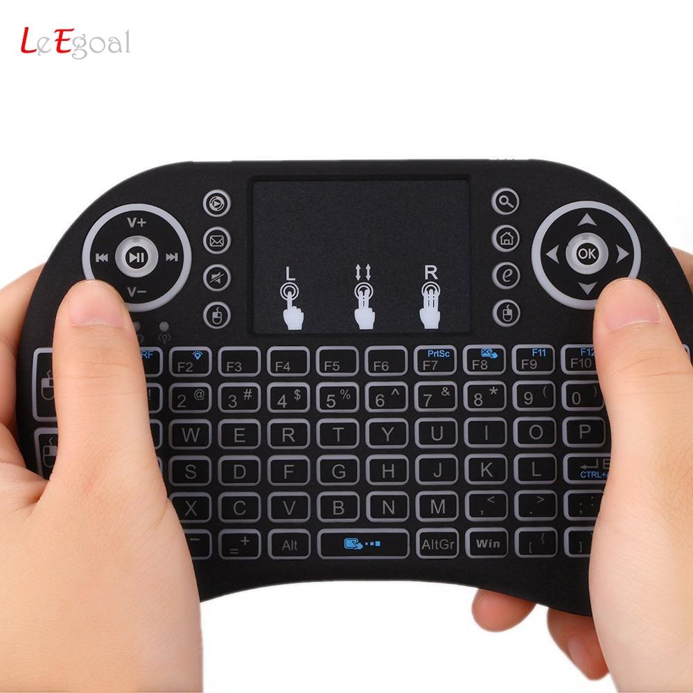 Portable Mini i8 i8+ Backlit Wireless Keyboard 2.4G Touchpad
