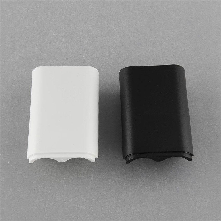 Replacement Battery Pack Cover Compartment Shell Shield Case Kits For Xbox 360 Wireless Controller Gamepad White/Black