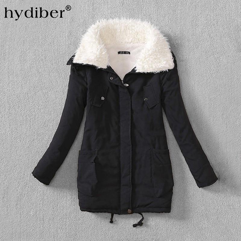 2018 Fashion Winter New Women's Parka Female Plus Size Thickening Warm Jacket Women Outerwear Fleece Coats