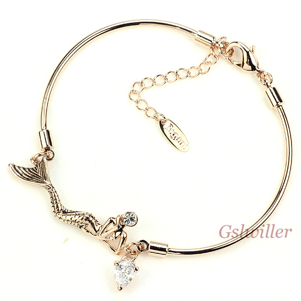 Italina Rigant Free Shipping Fashion Austrian Crystal Mermaid Bracelet Wholesale Jewelry Girlfriend Birthday Gift