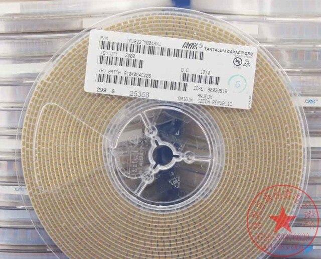 10pcs 4V 220uF TAJB227M004RNJ AVX  tantalum capacitors B-SMD size 1210 3528-21