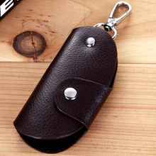 1PCS Handmade Leather Key Case Casual Men & Women Keys Holder 3 Colors Vintage Leather Housekeeper Key Package