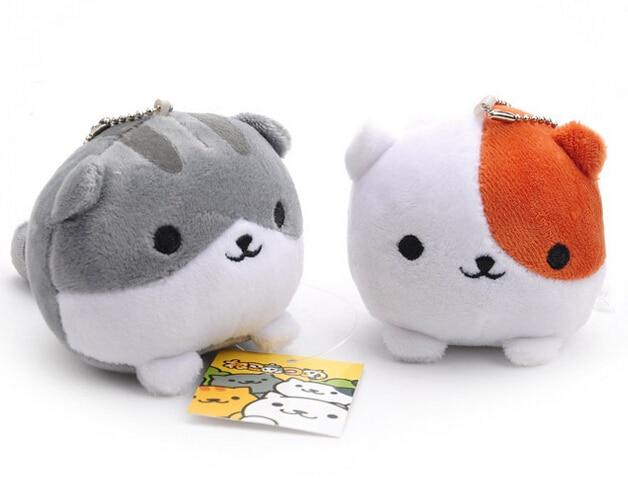 Hot Game Neko Atsume Cat Backyard Cat Anime Cats Plush Doll 10cm