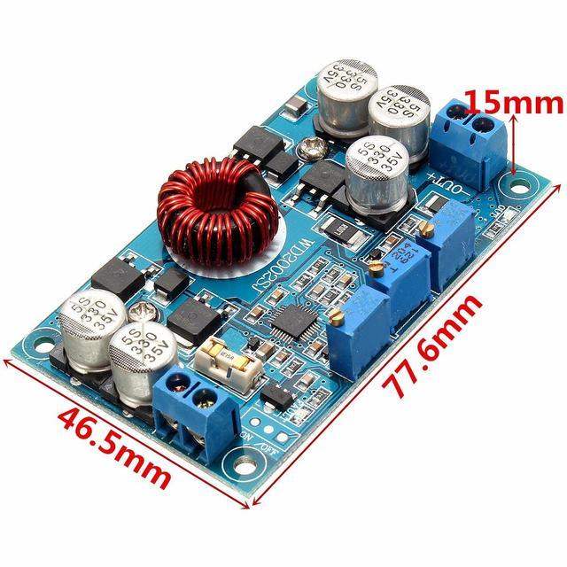 LTC3780 DC 5V~32V to 1V~30V 10A Automatic Step Down Regulator Charging Module 77.6 x 46.5 x 15mm Board Integrated Circuits