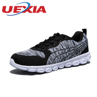 Men Lace Up Fly Weave Mesh Shoes Outdoor Running Sneakers For Man Superstar Sports Shoes Zapatos